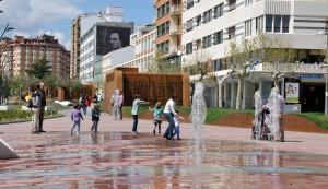 Fuentes del Paseo del Espolon en Soria
