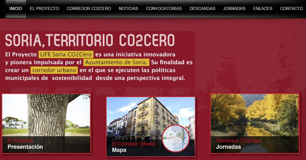 Web Co2Cero Soria ciudad