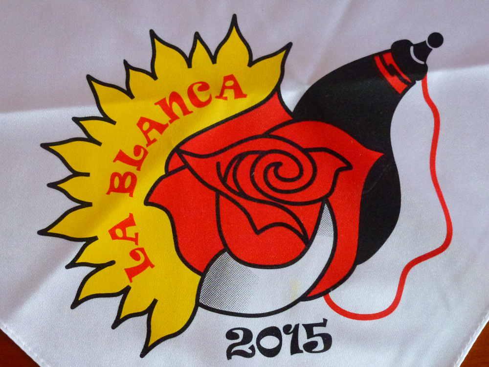 Rosa en cuadrilla La Blanca 2015