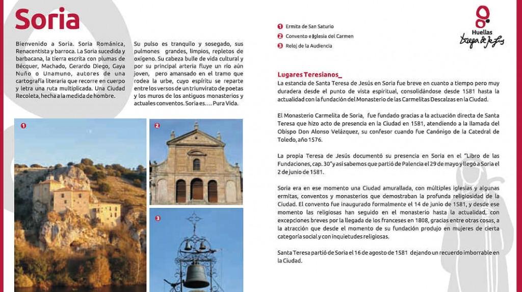 Santa Teresa de Jesus en Soria_lugares teresianos