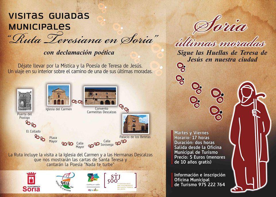 visitas guiadas teresianas en Soria