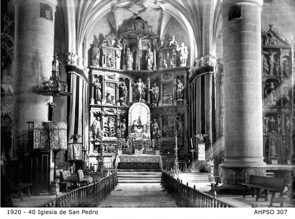 Altar mayor de San Pedro en Soria, foto AHPSo