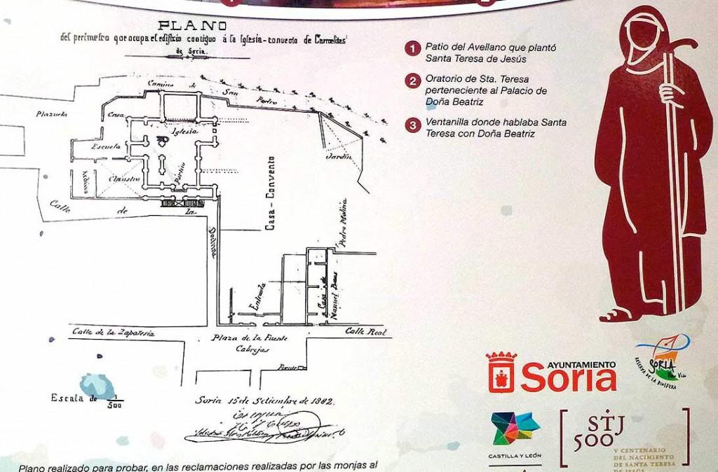 Convento-carmelita-de-Soria-y-plano-STJ-500-Santa-Teresa-de-Jesus