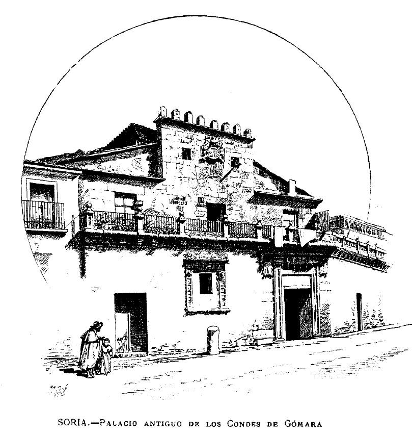 Palacio antiguo de Condes de Gomara por Nicolas Rabal