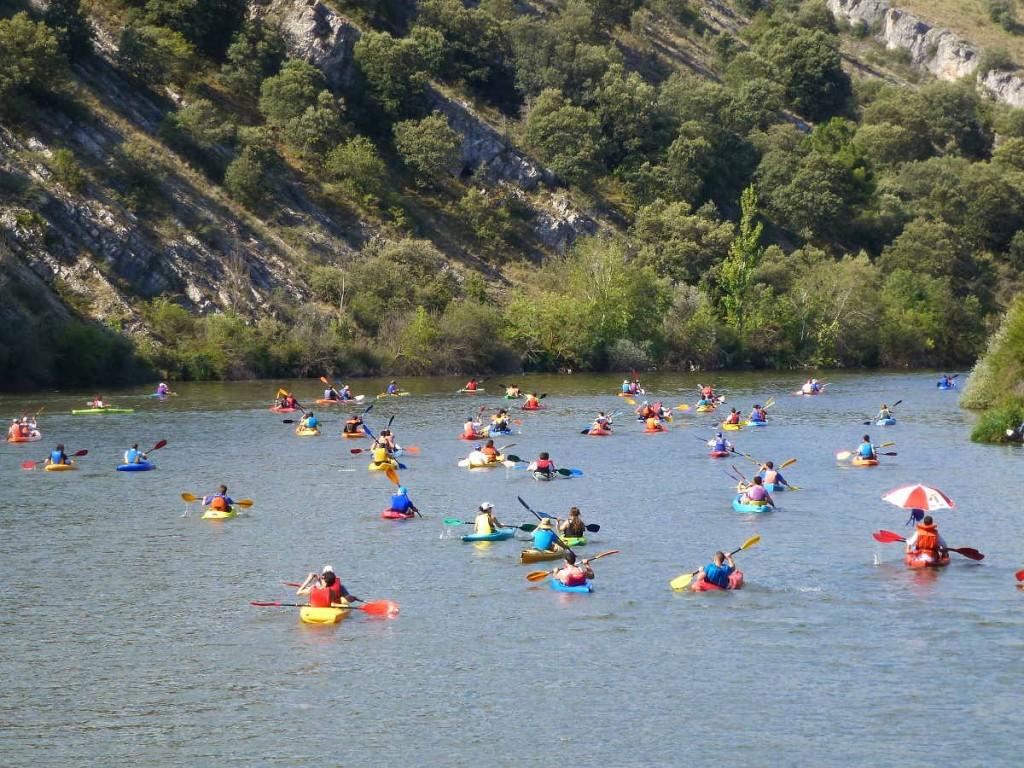 Piraguismo en el Duero-Soria-Celtykayak -hacia el embalse de Los Rabanos