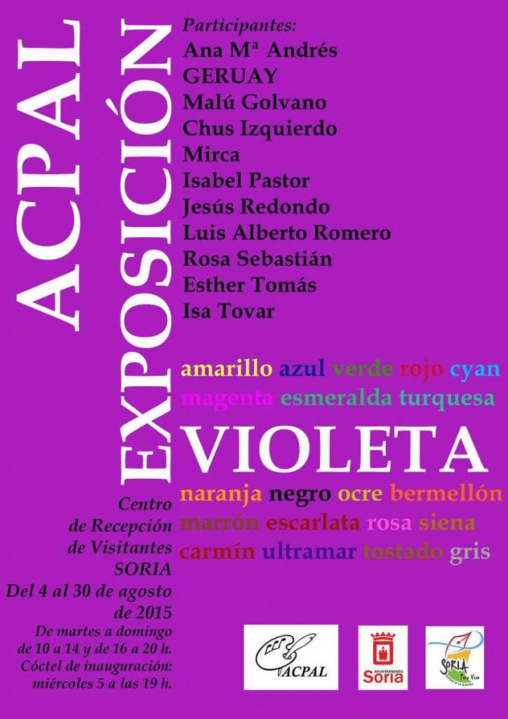 exposicion violeta de Acpal en Soria 2015 en Fielato