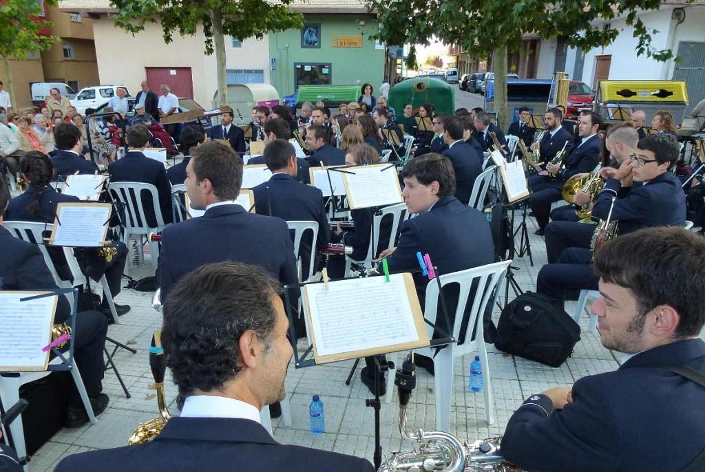 Banda Municipal de Soria en La Barriada, un descanso