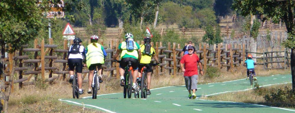 En bici por Valonsadero Semana Sostenible de Soria 2015