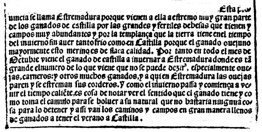 Extremadura, estremos invernaderos en libro de 1568