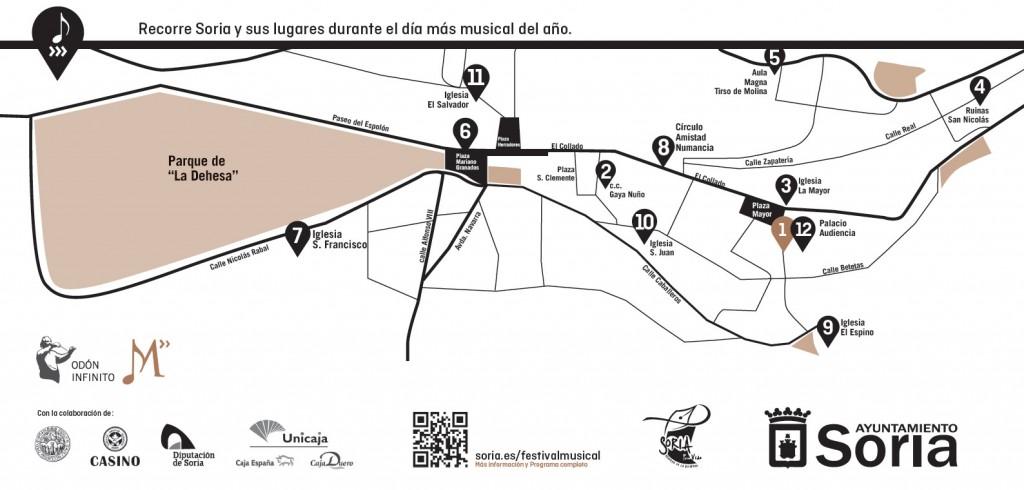 Recorrido Maraton Musical 2015 en Soria
