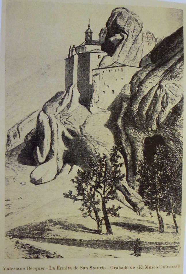 San Saturio por Valeriano Becquer