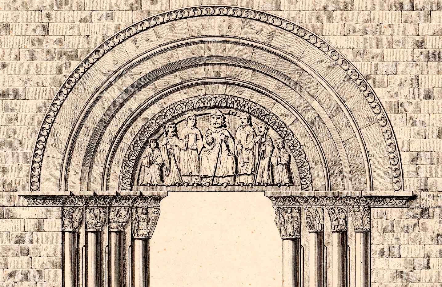 Dibujo de la portada según documento de la BNE