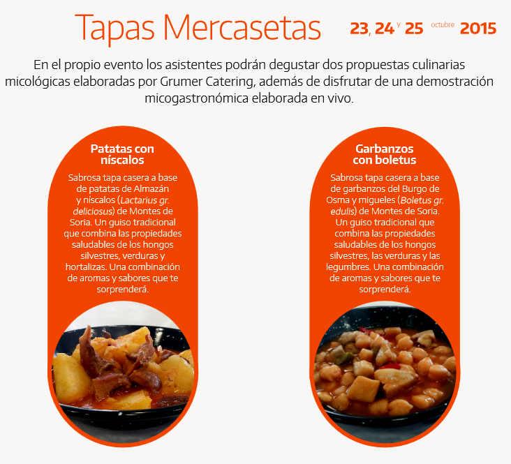 Tapas micologicas en Mercasetas Soria 2015