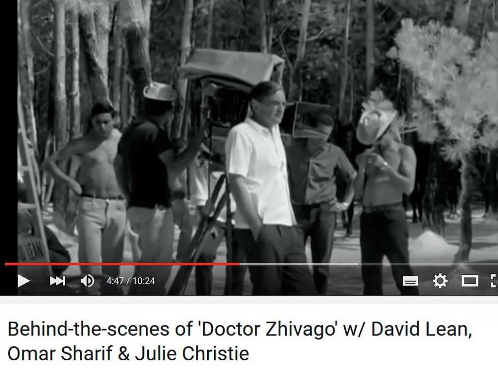David-Lean-rodando-en-Pinares-de-Soria-Doctor-Zhivago