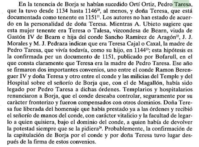 Pedro Taresa y Borja en Maria Teresa Ferrer Mallol