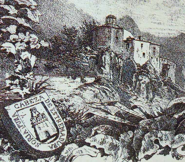 Ermita de San Saturio y escudo de armas de Soria del que habla La Numantina