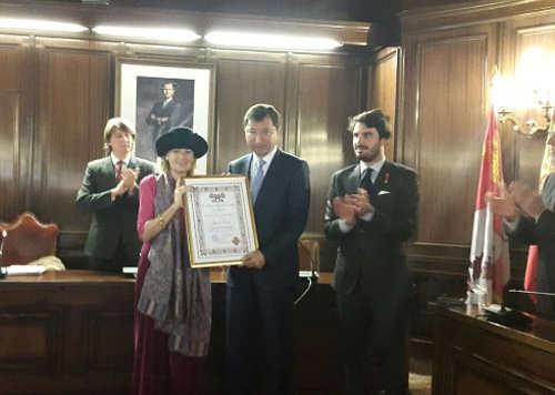 Embajador de Kazajstán con Doce Linajes de Soria