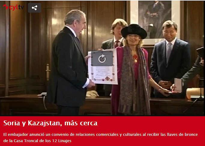 Embajador de Kazazjstan y Doce Linajes de Soria