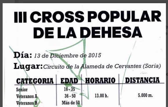 III Cros Popular Dehesa de Soria Categorias