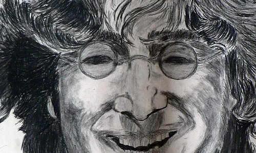 John lennon dibujo Nohwere man