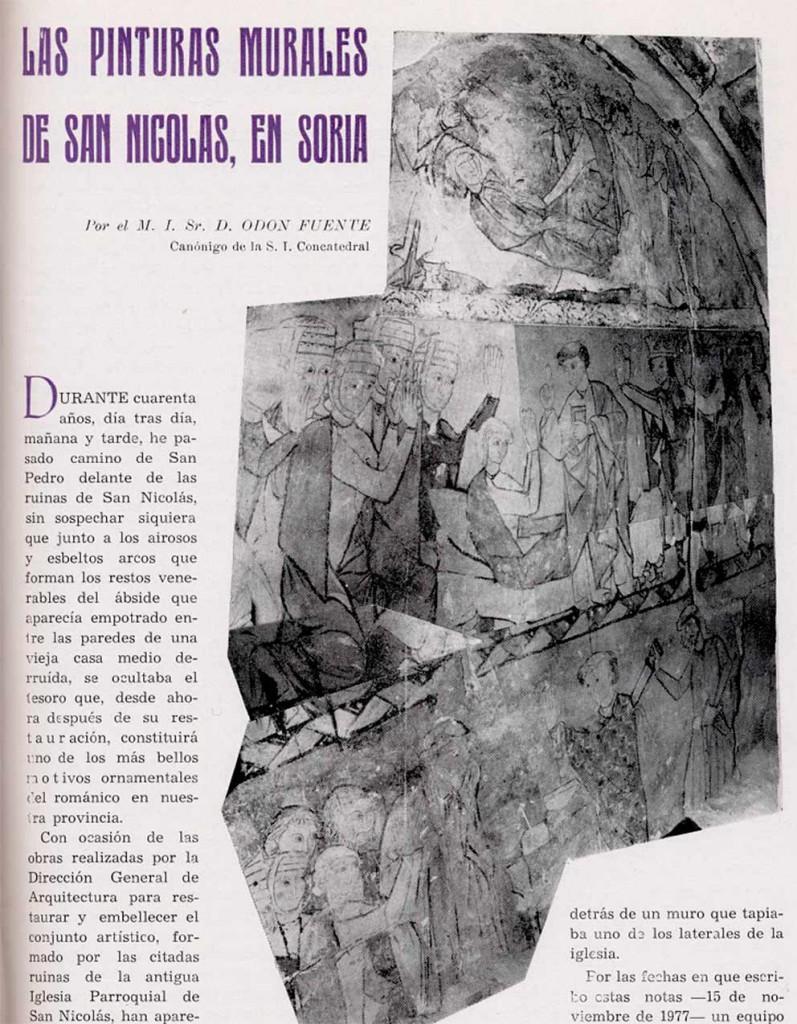 Mural-de-Santo-Tomás-Becket-en-San-Nicolas-de-Soria-ciudad