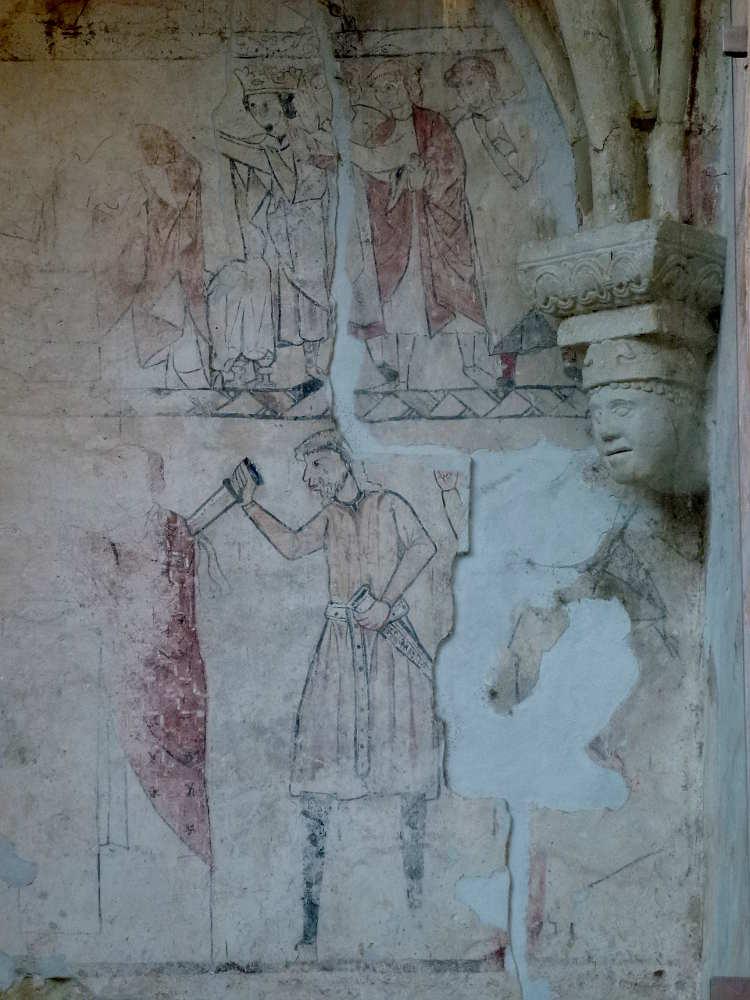 Mural de Santo Tomas de Canterbury en San Nicolas de Soria
