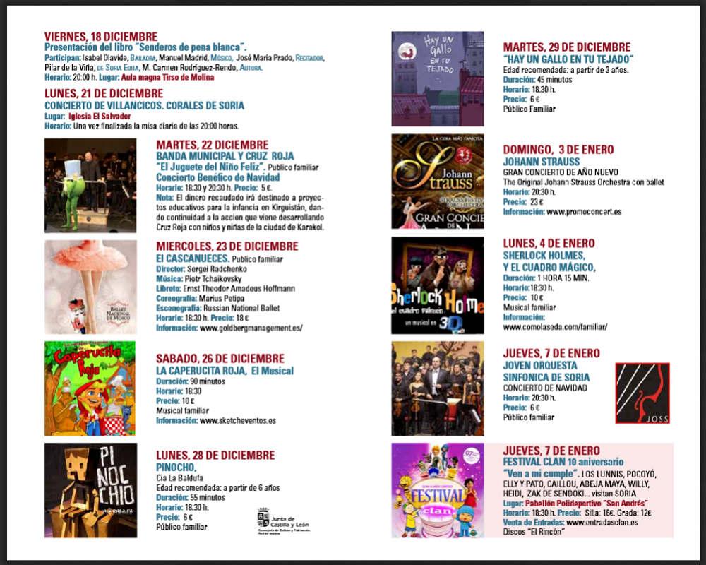 Programa Navidad 2015 en Soria