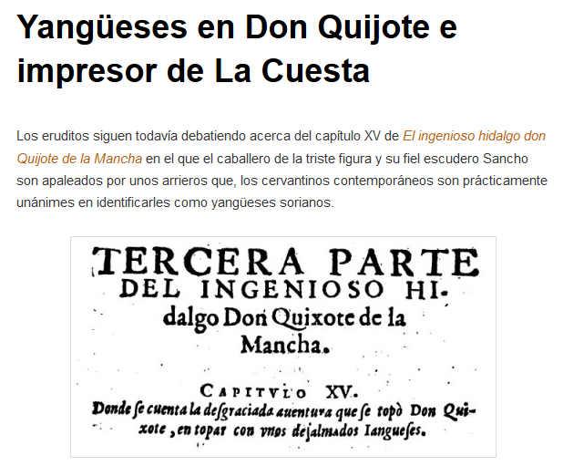 Yangueses en El Quijote