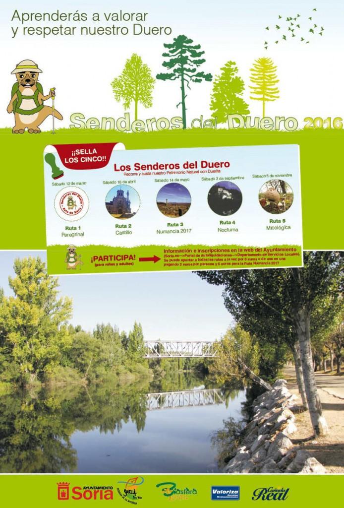 Cartel Senderos del Duero en Soria 2016