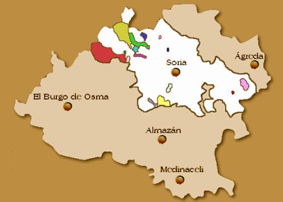 Tierra de Soria y montes_mapa de Mancomunidad 150 Pueblos