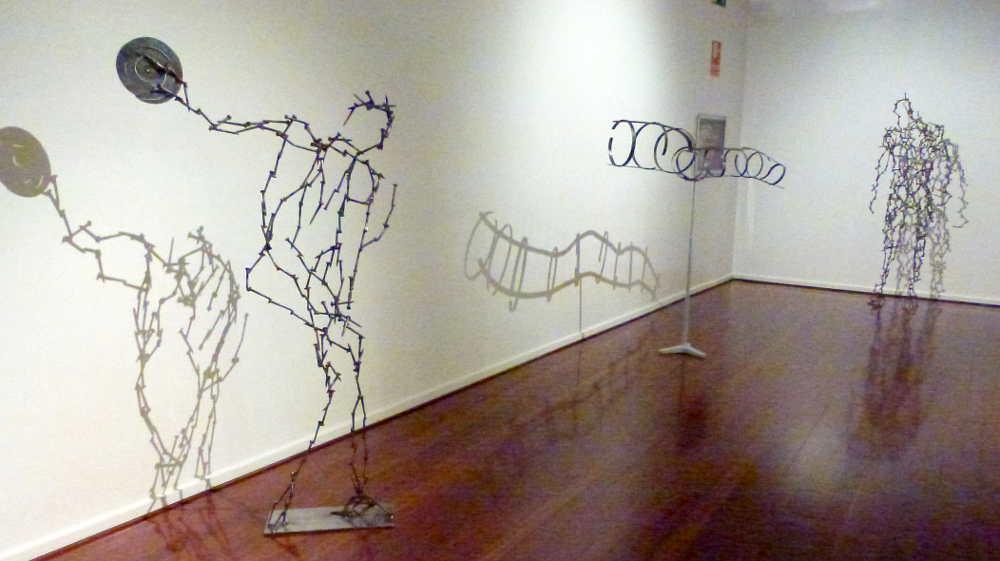 escultura eterea y dinamica en Isidoro Saenz