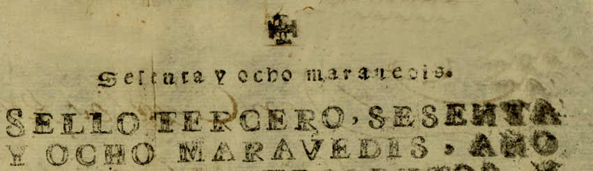 sello de Carlos III de 78 maravedies