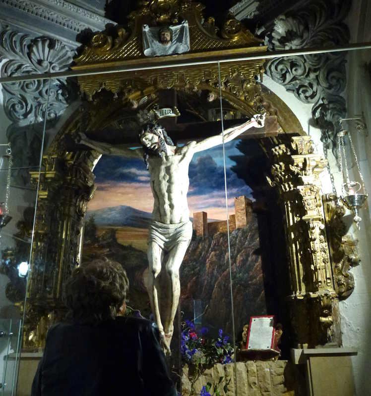 Cristo de la ermita de la Soledad en Soria