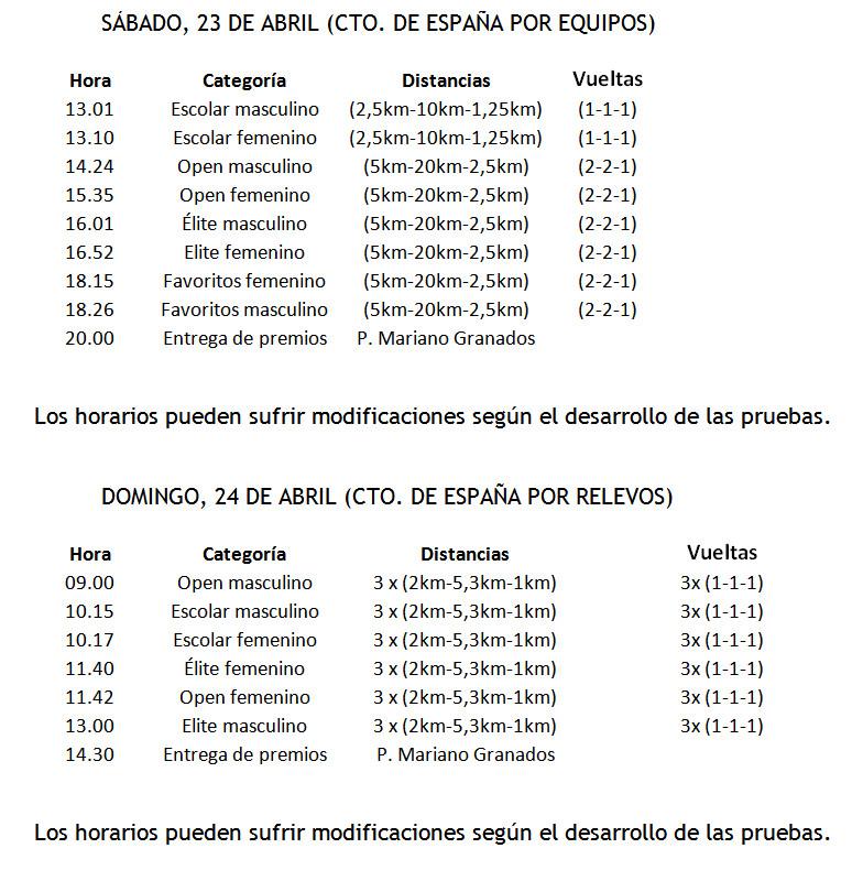 Campeonato Nacional por equipos y relevos en Soria
