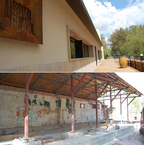 Bar Soto Playa de Soria_antes y ahora
