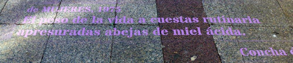 Poemas de Concha de Marco en las calles de Soria