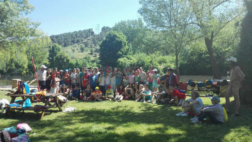 Escolares Medioambiente en el Duero de Soria