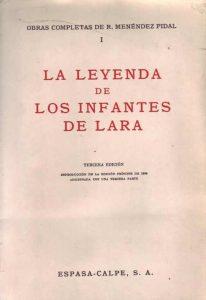 Libro de Menendez Pidal sobre Infantes de Lara