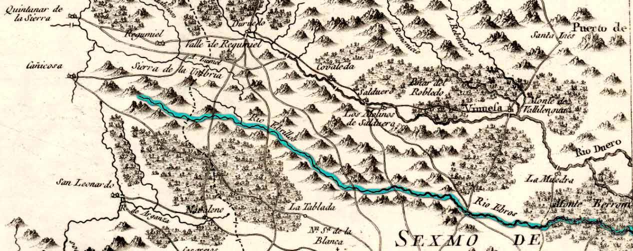 Rio-Ebrillos-de-los-Siete-Infantes-de-Lara-en-mapa-de-Tomas-Lopez