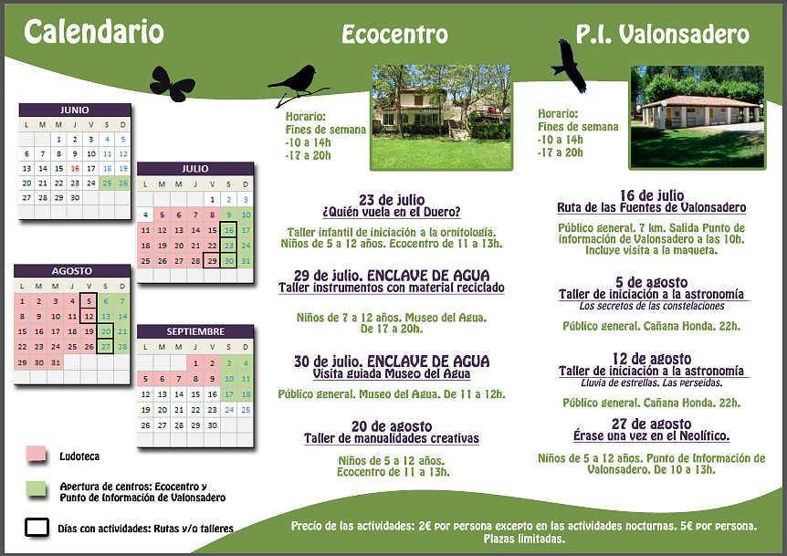 programas medioambientales Soria verano 2016