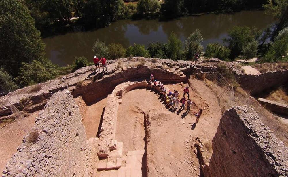 San Gines de Soria y el Duero vista aerea