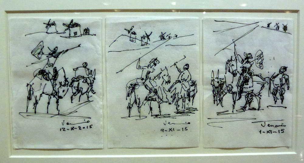 aventura de don Quijote con los molinos por Venancio Blanco