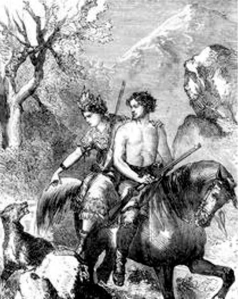 becquer-a-caballo-en-tema-cazadora-y-cazador-salvaje